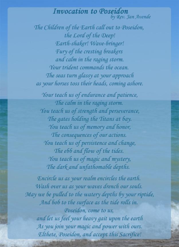 Invocation to Poseidon
