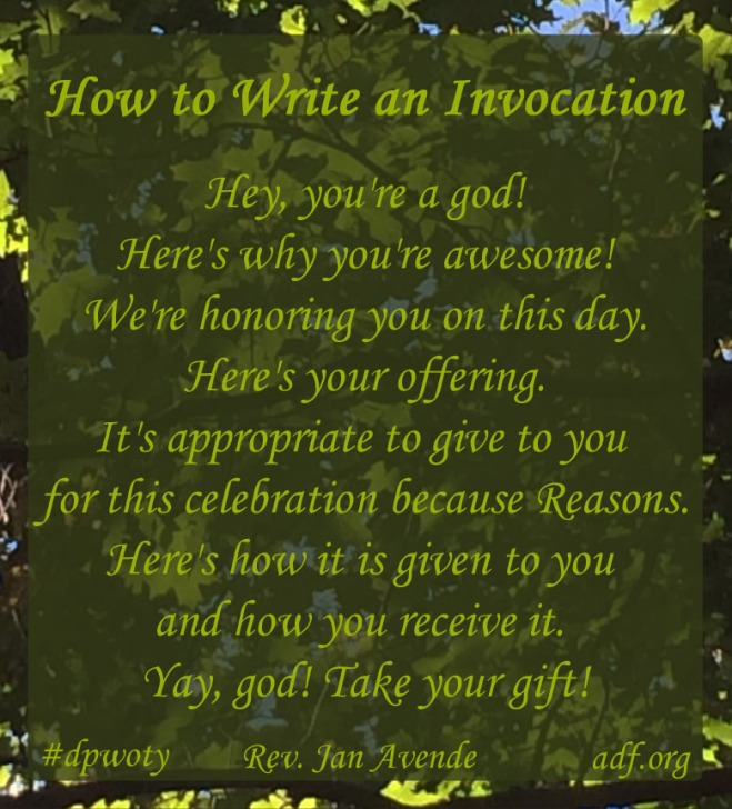 How to Write an Invocation